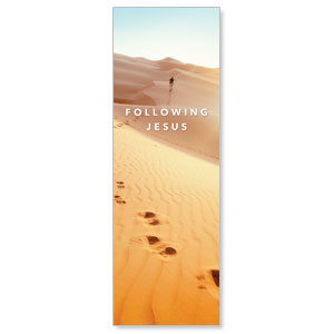 Following Jesus Sand Dunes 2' x 6' Banner