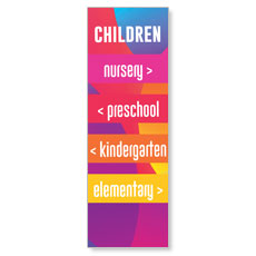 Curved Colors Children Directional