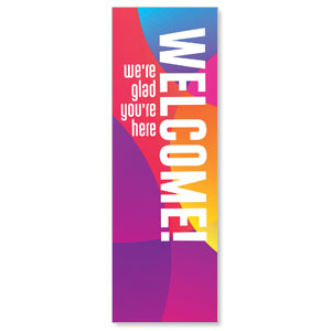 Curved Colors Welcome 2' x 6' Banner