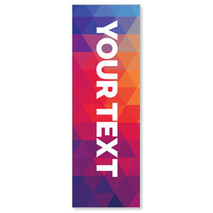 Geometric Bold Your Text Here 2' x 6' Banner
