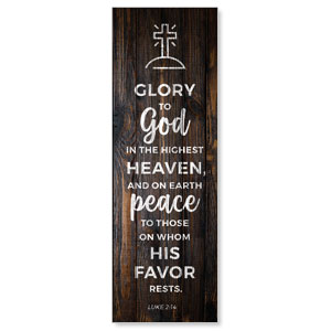 Dark Wood Luke 2:14 2' x 6' Banner