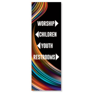 Twisted Paint Directional 2' x 6' Banner