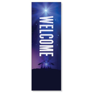 Aurora Lights Christmas Welcome 2' x 6' Banner