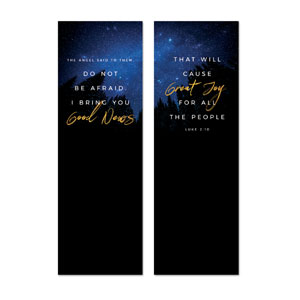 Night Sky Gold Script Luke 2 2' x 6' Banner