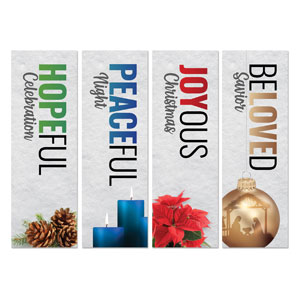 Bold Advent Words 2' x 6' Banner