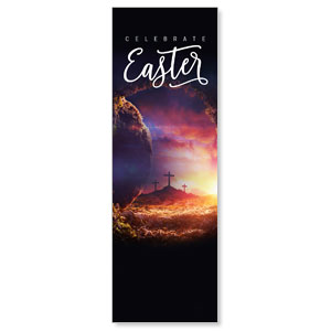 Dramatic Tomb Easter 2' x 6' Banner