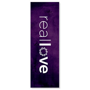 Real Love Crown 2' x 6' Banner