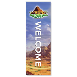 Wilderness Escape Welcome 2' x 6' Banner