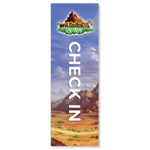 Wilderness Escape Check-In 2' x 6' Banner
