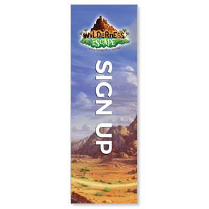 Wilderness Escape Sign Up 2' x 6' Banner