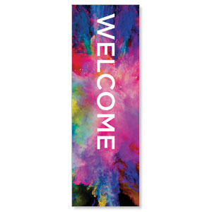 Back to Church Easter Welcome 2' x 6' Banner
