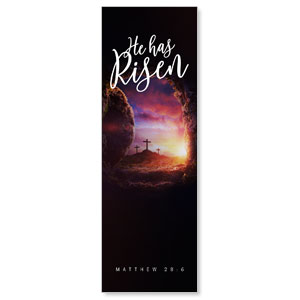 Dramatic Tomb Easter Scripture 2' x 6' Banner