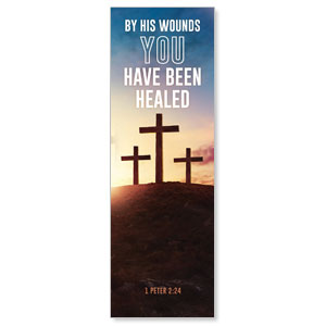 Easter Hope Outline Scripture 2' x 6' Banner