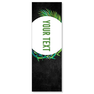 Easter Palm Crown Your Text 2' x 6' Banner