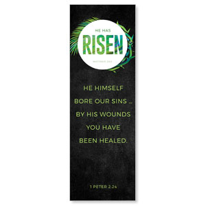 Easter Palm Crown Scripture 2' x 6' Banner