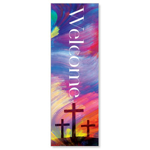 No Greater Love Welcome 2' x 6' Banner