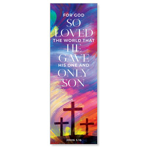 No Greater Love Scripture 2' x 6' Banner