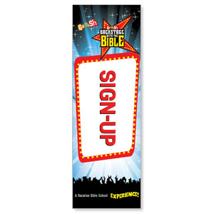 Go Fish Backstage With The Bible Sign Up 2' x 6' Banner
