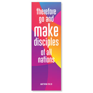 Curved Colors Scripture 2' x 6' Banner