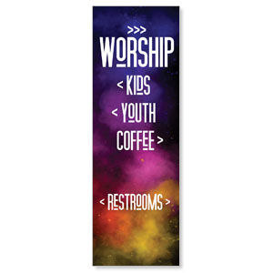 Dark Smoke Directional 2' x 6' Banner