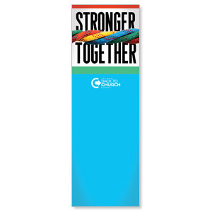 BTCS Stronger Together 2' x 6' Banner