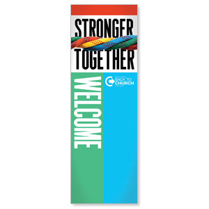 BTCS Stronger Together Welcome 2' x 6' Banner