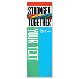 BTCS Stronger Together Your Text 2' x 6' Banner