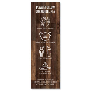 Walnut Guidelines 2' x 6' Banner