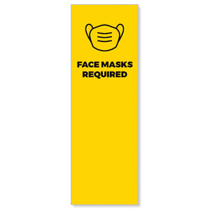Yellow Face Masks Required 2' x 6' Banner
