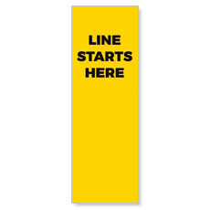 Yellow Line Starts Here