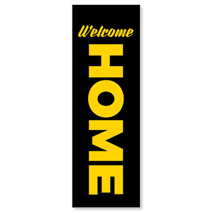 Jet Black Welcome Home 2' x 6' Banner