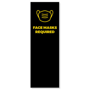 Jet Black Face Masks Required 2' x 6' Banner