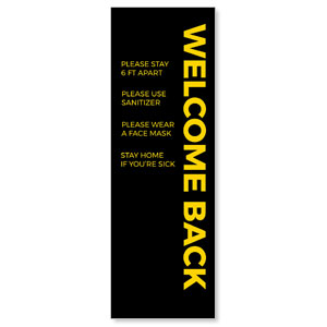 Jet Black Welcome Guidelines 2' x 6' Banner