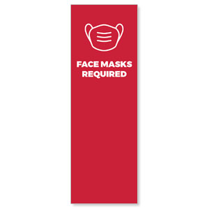 Red Face Masks Required 2' x 6' Banner
