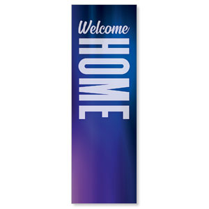 Aurora Lights Welcome Home 2' x 6' Banner