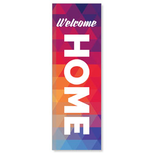 Geometric Bold Welcome Home 2' x 6' Banner