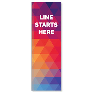 Geometric Bold Line Starts Here 2' x 6' Banner