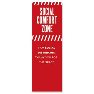 Social Comfort Zone Red 2' x 6' Banner