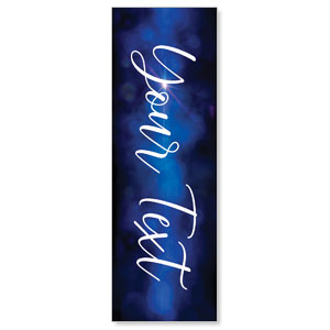 Celebrate Christmas Blue Sparkle Your Text 2' x 6' Banner
