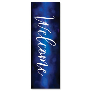 Celebrate Christmas Blue Sparkle Welcome 2' x 6' Banner