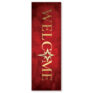 Hope Is Born Star Welcome 2' x 6' Banner