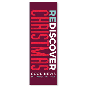 ReDiscover Christmas Advent Contemporary 2' x 6' Banner