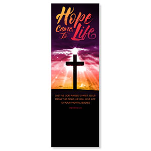 Hope Life Cross Scripture 2' x 6' Banner