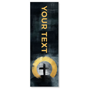 Hope Is Alive Gold Your Text 2' x 6' Banner