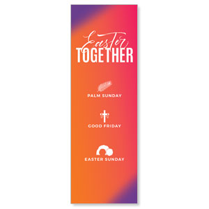 Easter Together Hues 2' x 6' Banner