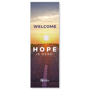 BTCS Hope Is Here Welcome 2' x 6' Banner