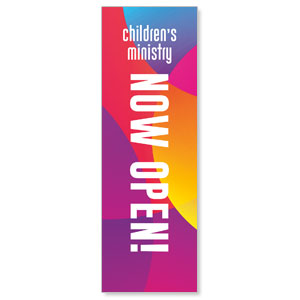 Curved Colors Children's Ministry 2' x 6' Banner