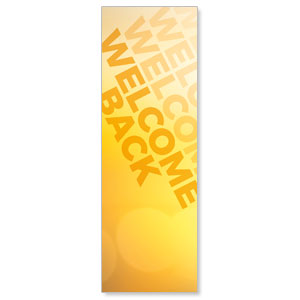 Welcome Back Yellow 2' x 6' Banner