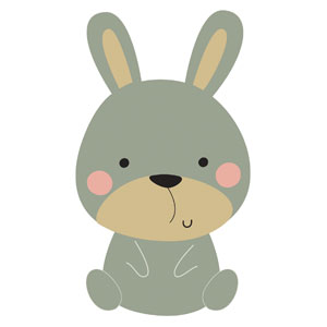 Woodland Friends Bunny StickUp