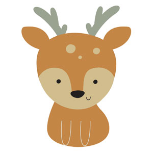 Woodland Friends Deer StickUp